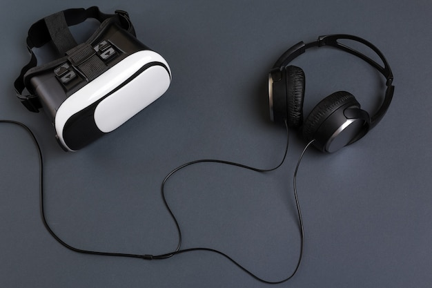 Draufsicht des virtual-reality-headsets