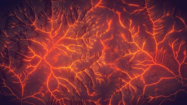 Draufsicht des vulkanlavaberghintergrundes