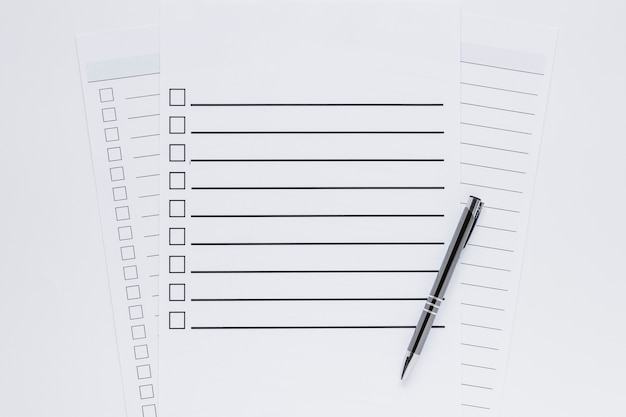 Draufsicht des wahlkonzepts mit kopierraum