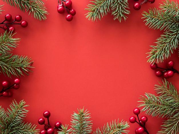 Draufsicht des weihnachtskonzepts mit kopienraum