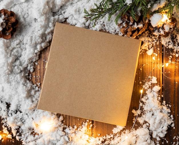 Draufsicht des winterschneekonzepts