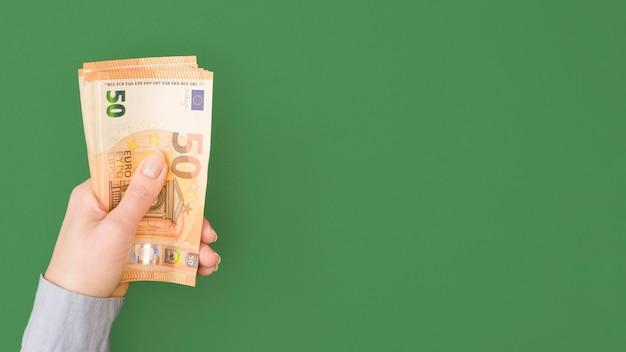 Draufsicht des wirtschaftlichkeitskonzepts mit kopierraum