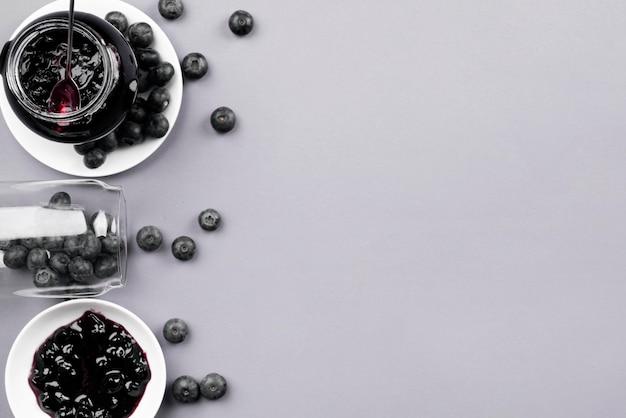 Draufsicht dessertrahmen mit kopierraum