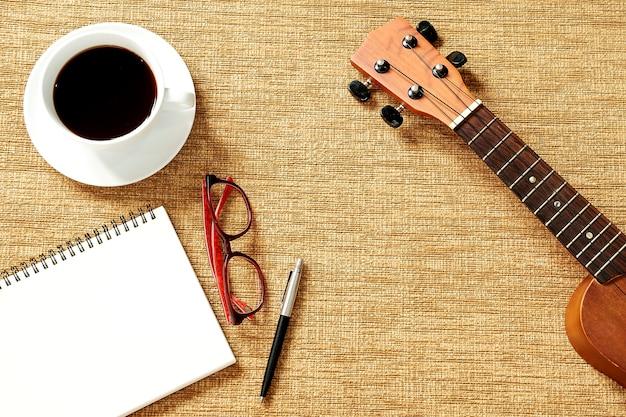 Draufsicht einer ukulele