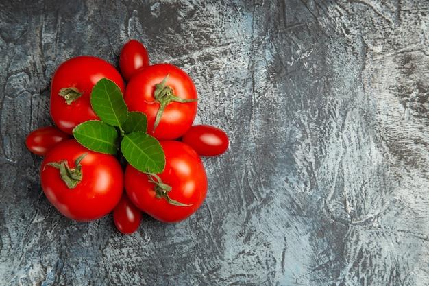Draufsicht frische rote tomaten
