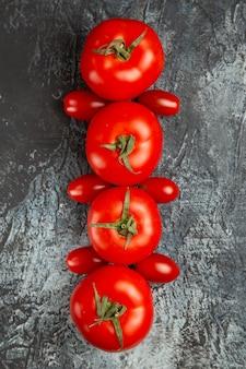 Draufsicht frische tomaten