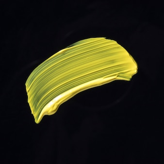 Draufsicht gelber pinselstrich