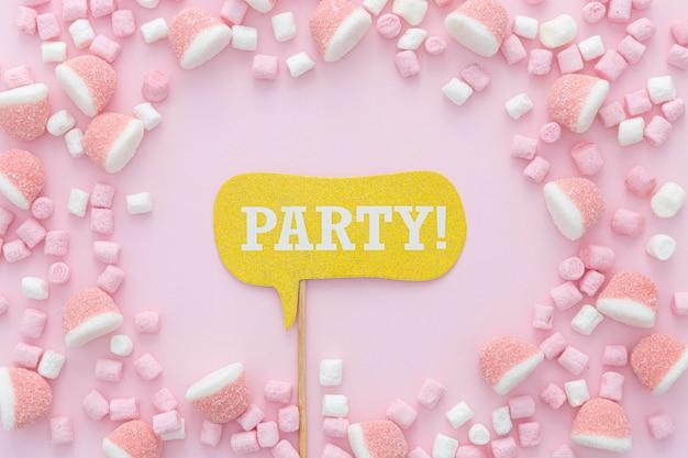 Draufsicht gelees für party