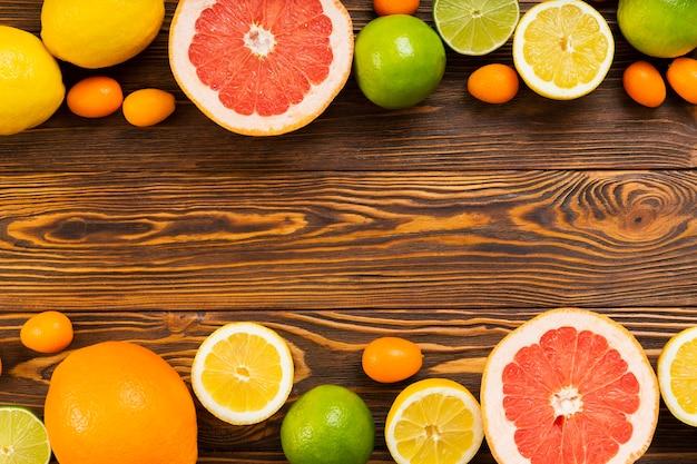 Draufsicht gesunder nahrungsmittelrahmen mit kopierraum