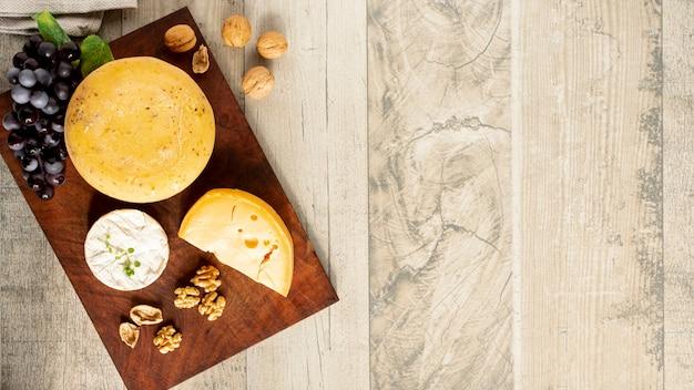 Draufsicht-gourmet-snack auf einem tisch