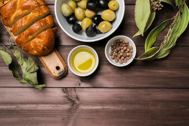 Draufsicht-gourmet-snacks auf dem tisch