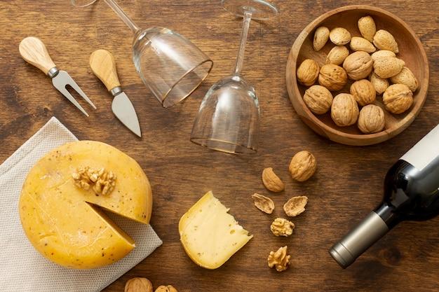 Draufsicht-gourmet-snacks auf einem tisch