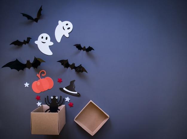 Draufsicht, halloween festlich.