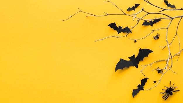 Draufsicht halloween-konzept mit kopierraum