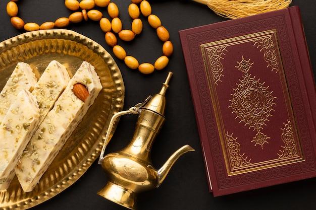 Draufsicht islamisches neujahrskonzept
