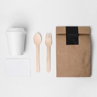 Draufsicht kaffee-markenartikel