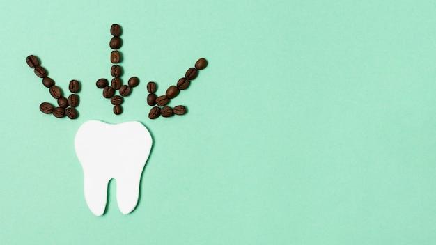 Draufsicht kaffeebohnenpfeile