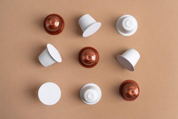 Draufsicht kaffeekapseln