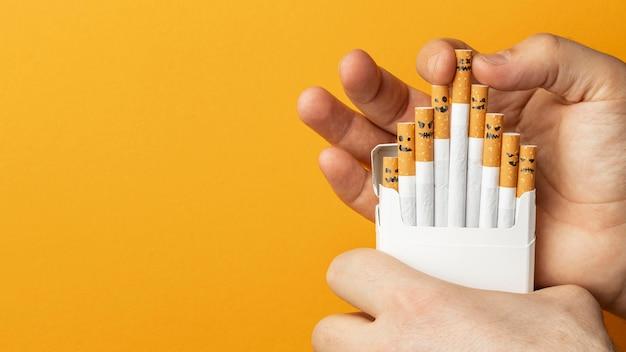 Draufsicht keine tabak-tageselementanordnung