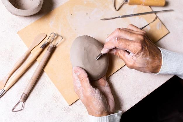 Draufsicht keramikprozess