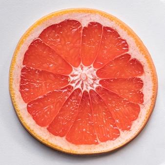 Draufsicht köstliche grapefruitscheibe