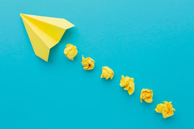 Draufsicht komposition mit innovationselementen
