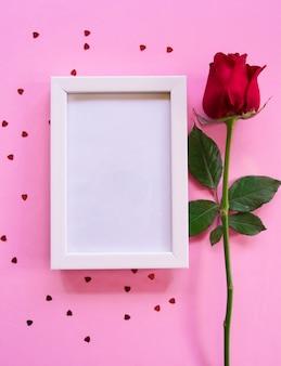 Draufsicht, konzept von valentine day.