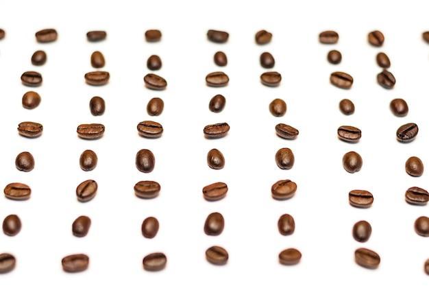 Draufsicht-kopienraum der kaffeebohnen