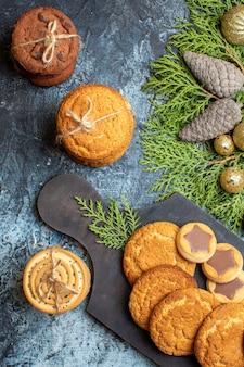 Draufsicht leckere kleine kekse