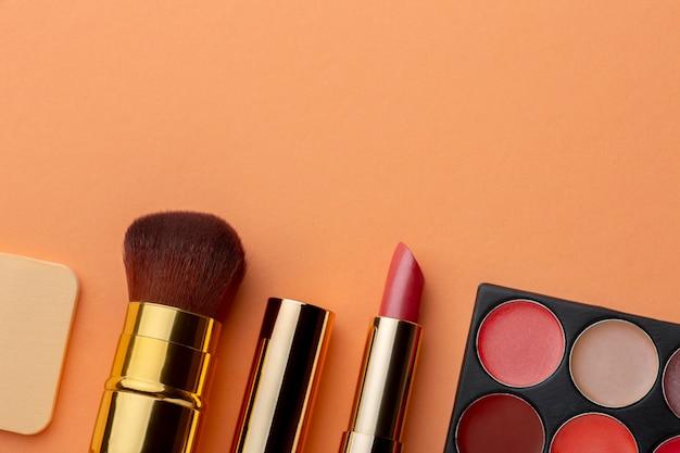 Draufsicht make-up-produktanordnung