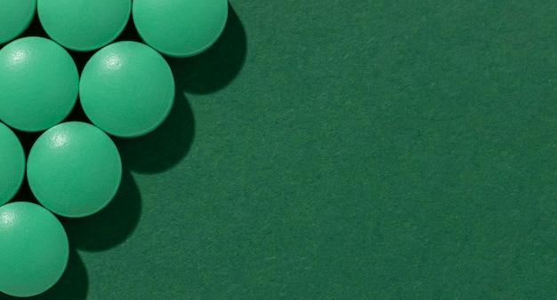 Draufsicht minimales medizinisches pillen-sortiment