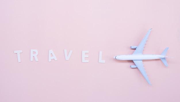Draufsicht, modellflugzeug und reise.