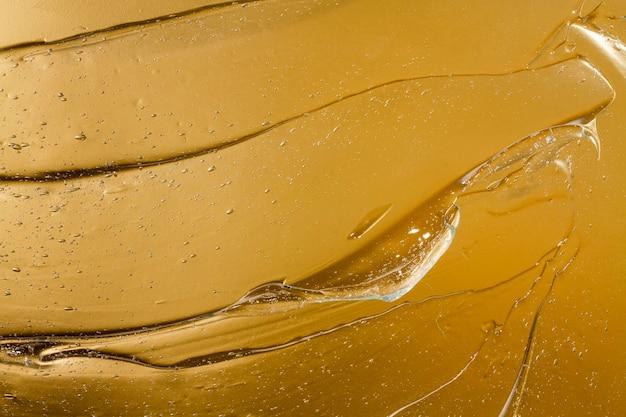 Draufsicht nahaufnahme von hydroalkoholischem gel