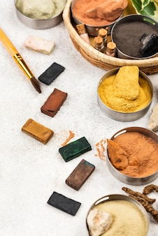 Draufsicht organisches farbstoffpigment