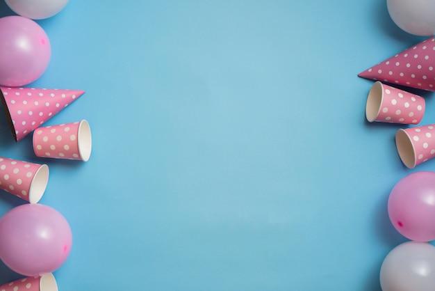 Draufsicht-pastellfarben-party-tablewear