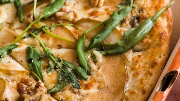 Draufsicht pizza detail