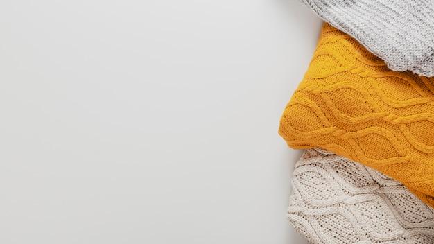Draufsicht pullover mit kopierraum