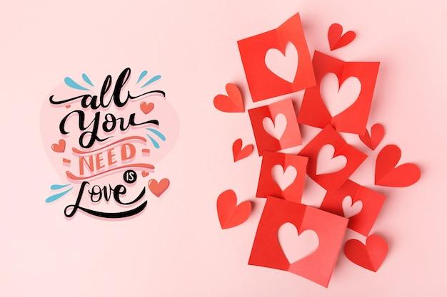 Draufsicht qoute für valentinstag