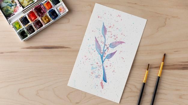 Draufsicht schönes zeichnungskonzept