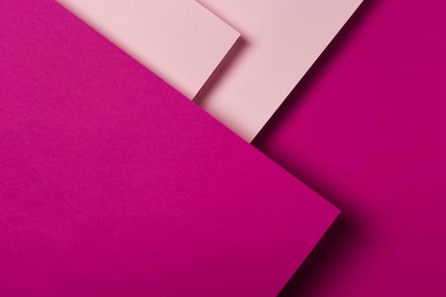 Draufsicht-sortiment der bunten papierblätter