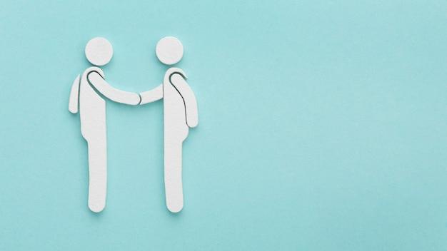 Draufsicht-sortiment von stillleben-freundschaftstagelementen