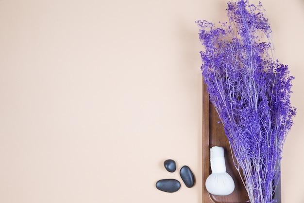 Draufsicht spa-dekoration