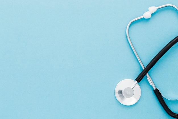 Draufsicht stethoskop