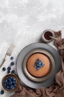 Draufsicht süße bäckereikomposition mit kopierraum