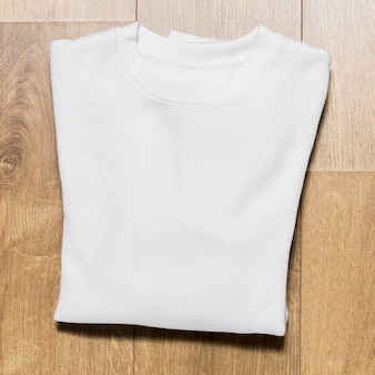Draufsicht verpackt weißen kapuzenpulli