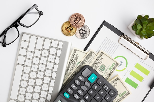 Draufsicht von finanzinstrumenten