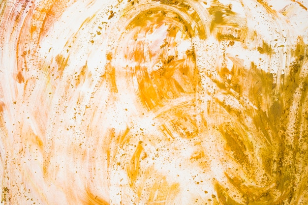 Draufsicht von gelb befleckt auf weißem hintergrund