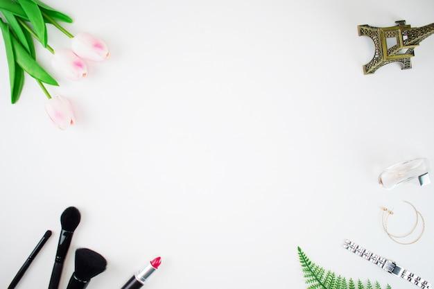 Draufsicht von make-up-tools