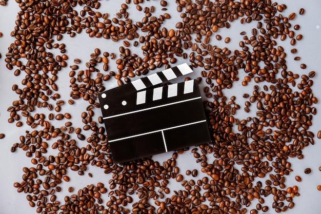 Draufsicht von röstkaffeebohnen