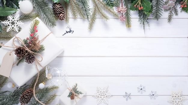 Draufsicht weihnachtsdekoration
